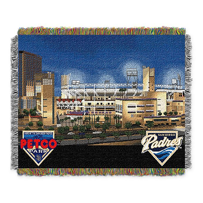 Alternate image 1 for MLB San Diego Padres Home Stadium Woven Tapestry Throw Blanket