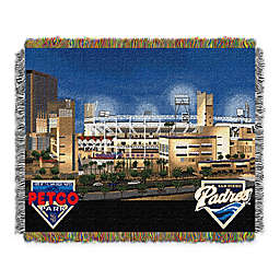 MLB San Diego Padres Home Stadium Woven Tapestry Throw Blanket
