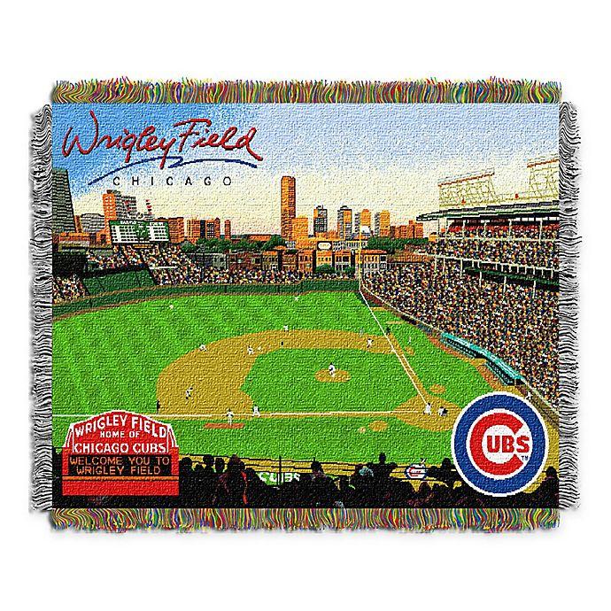Alternate image 1 for MLB Chicago Cubs Home Stadium Woven Tapestry Throw Blanket