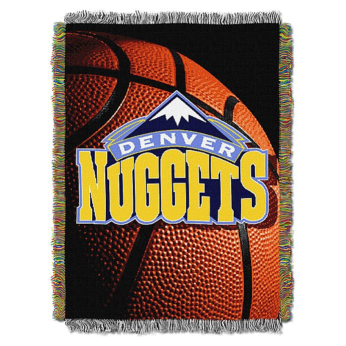 Alternate image 1 for NBA Denver Nuggets Photo Real Tapestry Throw Blanket