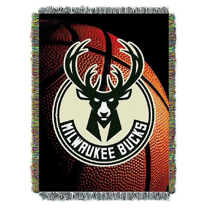 Alternate image 1 for NBA Milwaukee Bucks Photo Real Tapestry Throw Blanket