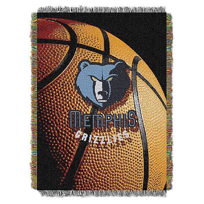 Alternate image 1 for NBA Memphis Grizzlies Photo Real Tapestry Throw Blanket