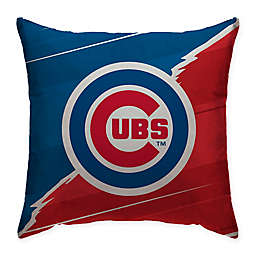MLB Chicago Cubs Split Color Square Throw Pillow