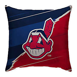 MLB Cleveland Indians Split Color Square Throw Pillow