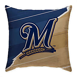 MLB Milwaukee Brewers Split Color Square Throw Pillow