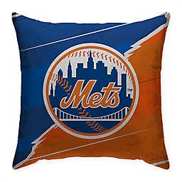 MLB New York Mets Split Color Square Throw Pillow