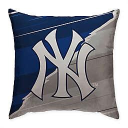 MLB New York Yankees Split Color Square Throw Pillow