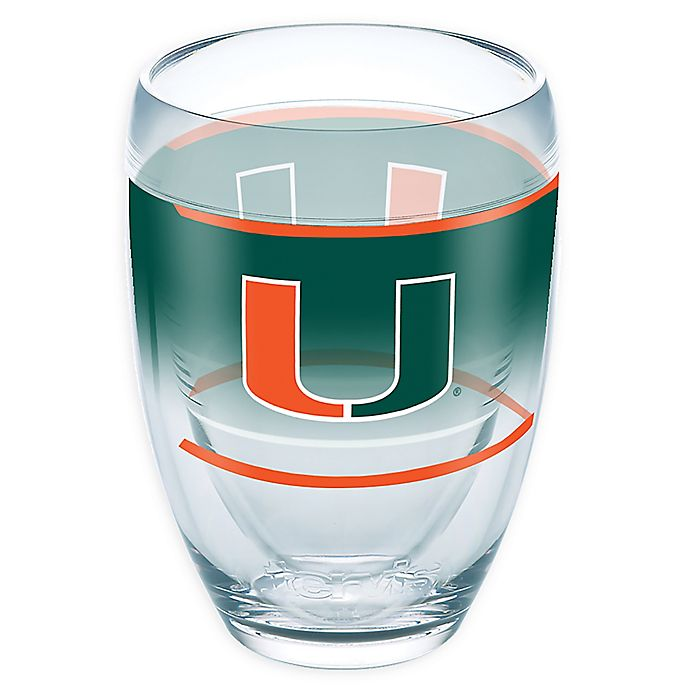 Alternate image 1 for Tervis® University of Miami Original 9 oz. Stemless Wine Glass