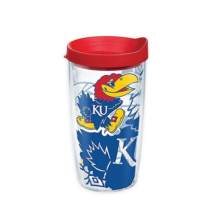 Alternate image 1 for Tervis® University of Kansas Genuine 16 oz. Wrap Tumbler with Lid