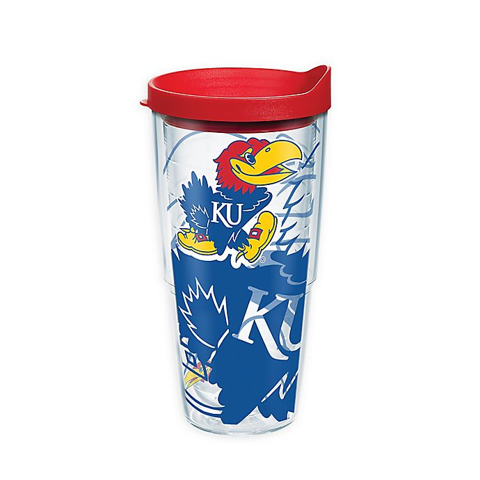 Alternate image 1 for Tervis® University of Kansas Genuine 24 oz. Wrap Tumbler with Lid