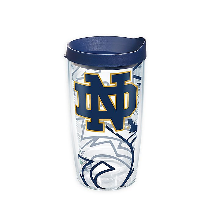 Alternate image 1 for Tervis® University of Notre Dame Genuine 16 oz. Wrap Tumbler with Lid