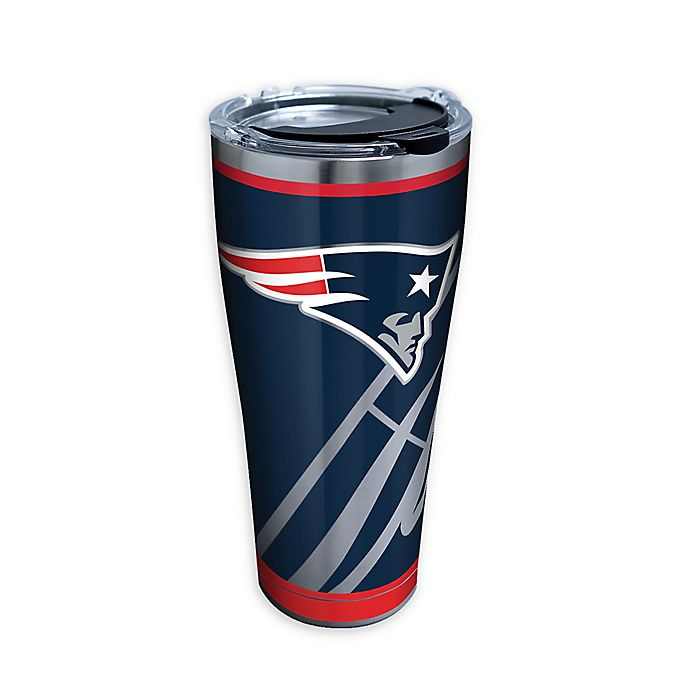 NFL New England Patriots 30oz Double Wall Stainless Steel Thermo Tumbler with Cap