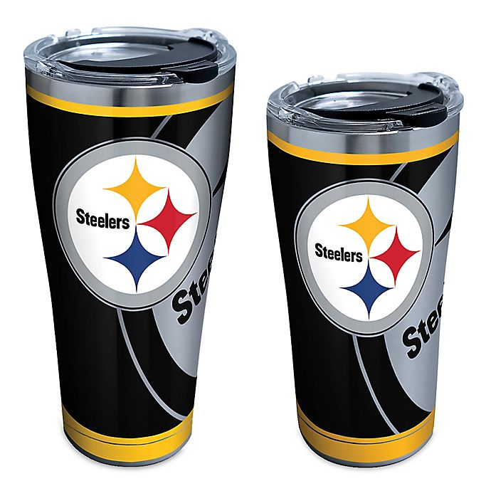 Alternate image 1 for Tervis® NFL Pittsburgh Steelers Rush Stainless Steel Tumbler with Lid