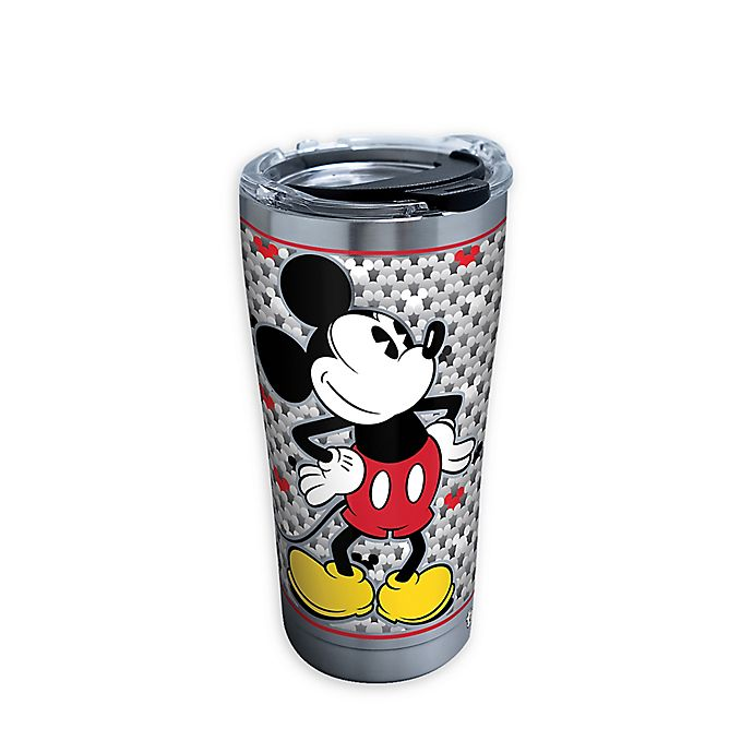 Alternate image 1 for Tervis® Silver Mickey Stainless Steel 20 oz. Tumbler with Lid