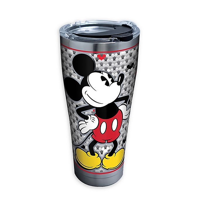 Alternate image 1 for Tervis® Silver Mickey Stainless Steel 30 oz. Tumbler with Lid