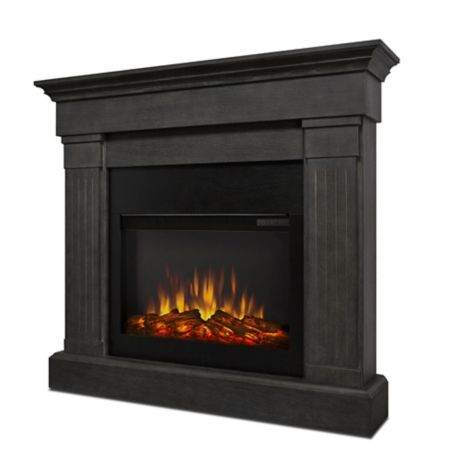 Real Flame 174 Crawford Slim Electric Fireplace In Grey Bed