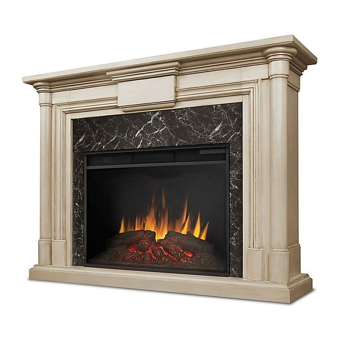 Alternate image 1 for Real Flame® Maxwell Grand Electric Fireplace in White Wash