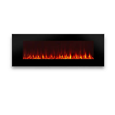 Real Flame® DiNatale 50-Inch Wall Mounted Electric Fireplace in Black