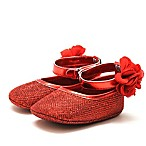 Stepping Stones Size 3-6M Halo Mary Janes in Red