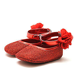 Stepping Stones Halo Mary Janes in Red