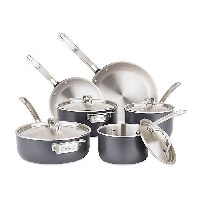 Alternate image 1 for Viking® Hard Stainless 10-Piece Cookware Set