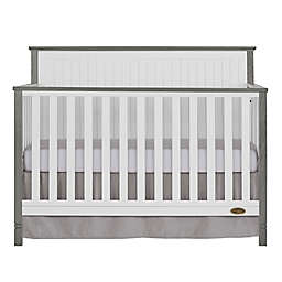 Dream On Me Alexa II 5-in-1 Convertible Crib in White/Silver