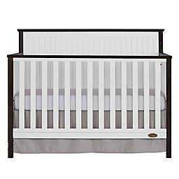 Dream On Me Alexa II 5-in-1 Convertible Crib in White/Dark Brown