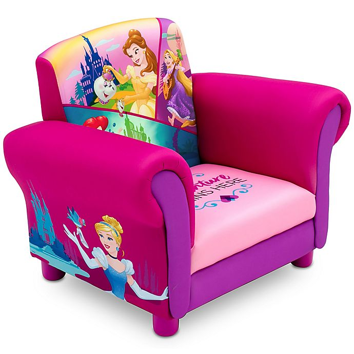 Alternate image 1 for Delta Children Disney® Princess Upholstered Chair in Pink