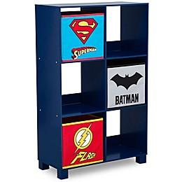 DC Comics Justice League 6-Cubby Deluxe Storage Unit in Blue