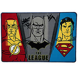 "DC Comics Justice League 2'6"" x 4' Area Rug in Blue"