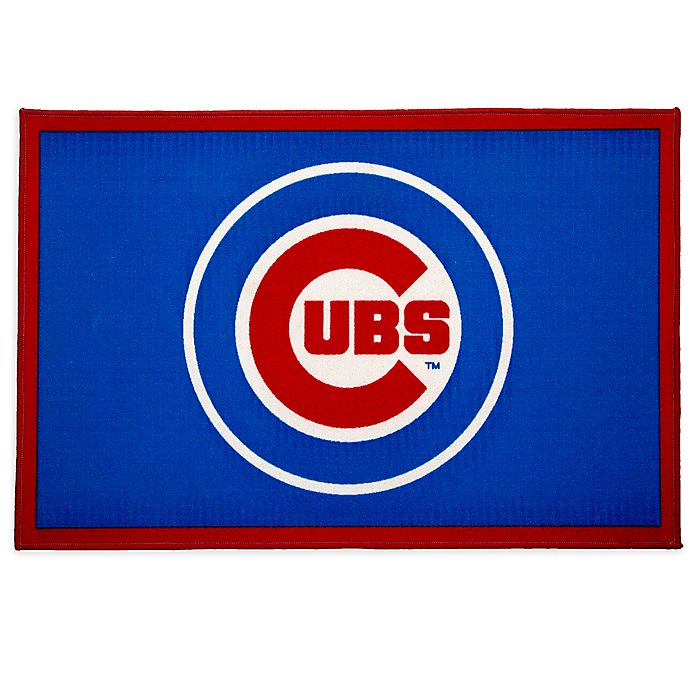 Alternate image 1 for MLB Chicago Cubs 2'6 x 4' Area Rug in Blue