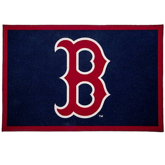 Alternate image 1 for MLB Boston Red Sox 2'6 x 4' Area Rug in Blue