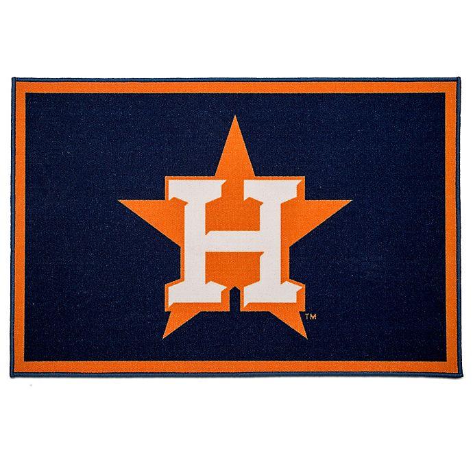 Alternate image 1 for MLB Houston Astros 2'6 x 4' Area Rug in Blue