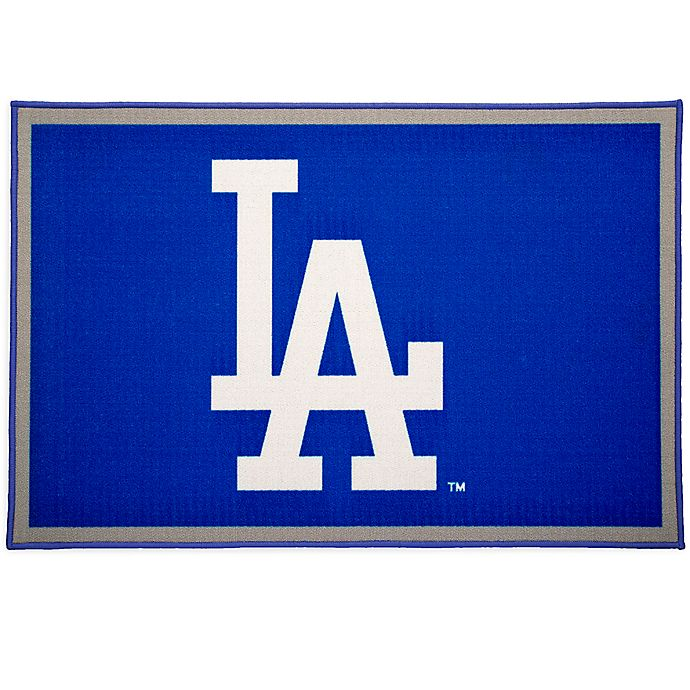 Alternate image 1 for MLB Los Angeles Dodgers 2'6 x 4' Area Rug in Blue by Delta Children