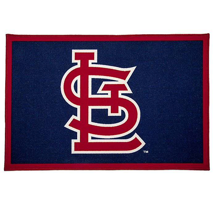 Alternate image 1 for MLB St. Louis Cardinals 2'6 x 4' Area Rug in Blue