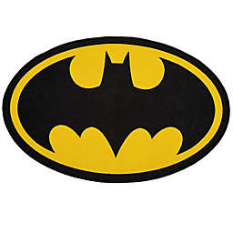 "DC Comics Batman 2'6"" x 4' Area Rug in Black by Delta Children"