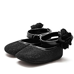 Stepping Stones Halo Mary Janes in Black