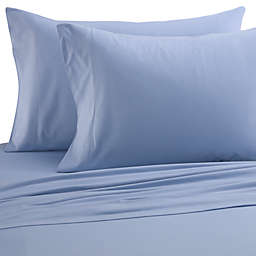 Micro Flannel® Solid Twin Sheet Set in Wedgwood