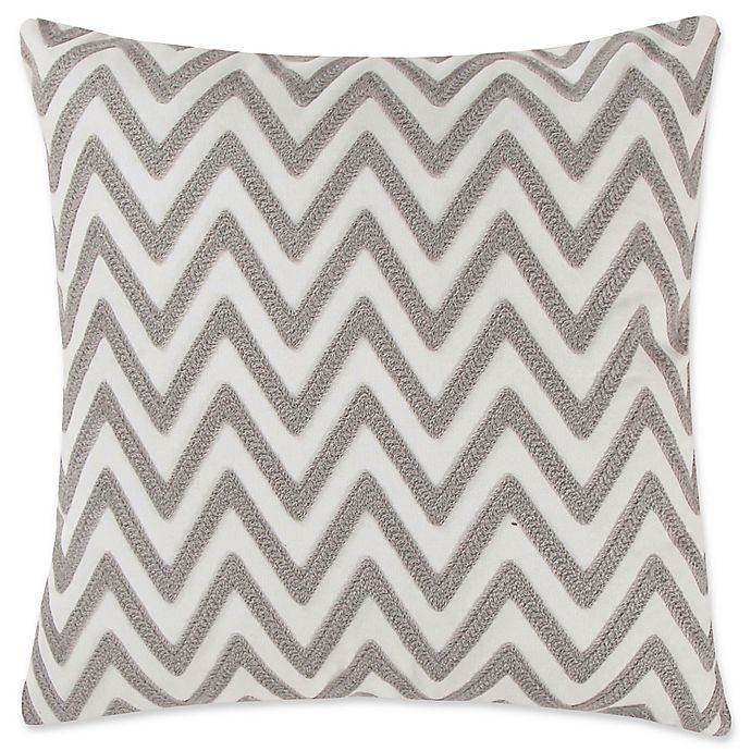 Awesome Levtex Home Robin Chevron Square Throw Pillow In Grey White Uwap Interior Chair Design Uwaporg
