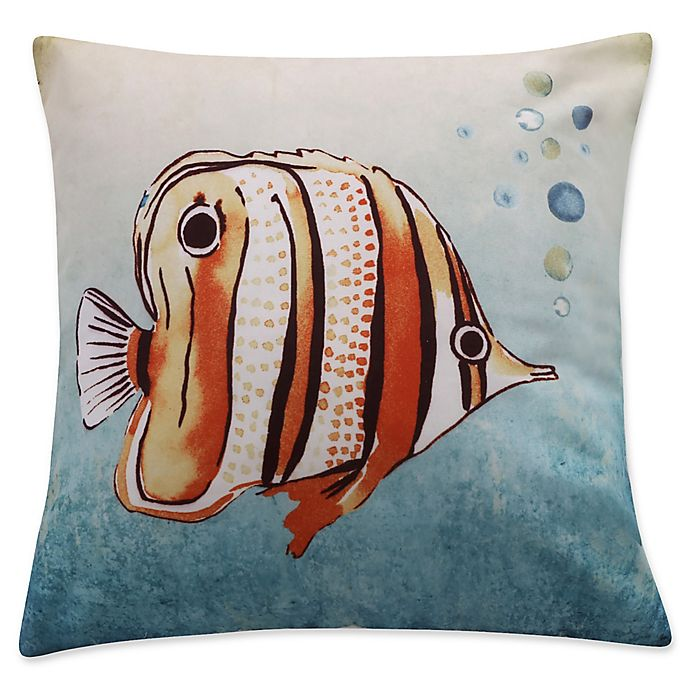 Alternate image 1 for Levtex Home Lagos Printed Fish Square Throw Pillow