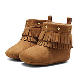First Steps Fringe Stud Boot in Brown