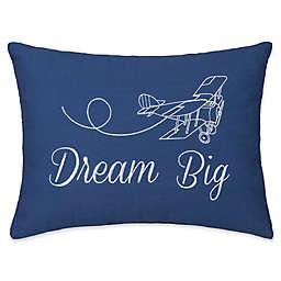 Dream Big Oblong Throw Pillow in Blue