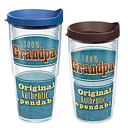 """Tervis® """"100% Grandpa"""" Wrap Tumbler with Lid"""