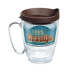 """Tervis® """"100% Grandpa"""" 16 oz. Wrap Mug with Lid"""