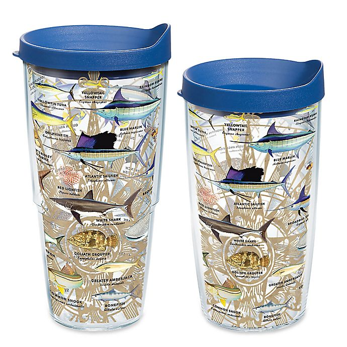 Alternate image 1 for Tervis® Guy Harvey Charts Wrap Tumbler with Lid