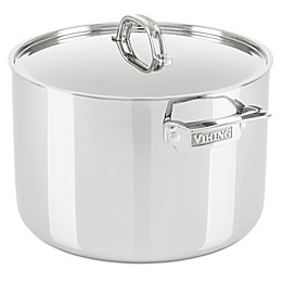Viking® 3-Ply Stainless Steel 12 qt. Covered Stock Pot