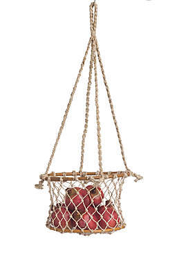Fab Habitat  Prairie Hanging Macramé Basket