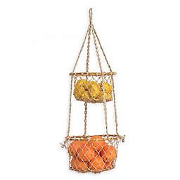 Fab Habitat Prairie 2-Tier Macramé Hanging Basket