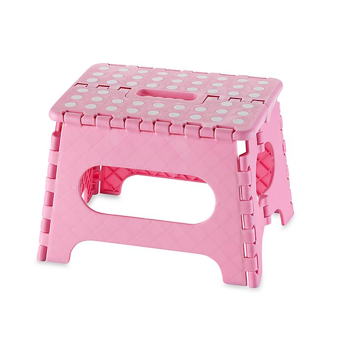 Excellent Kikkerland Easy Fold 9 Plastic Step Stool Pink Ocoug Best Dining Table And Chair Ideas Images Ocougorg