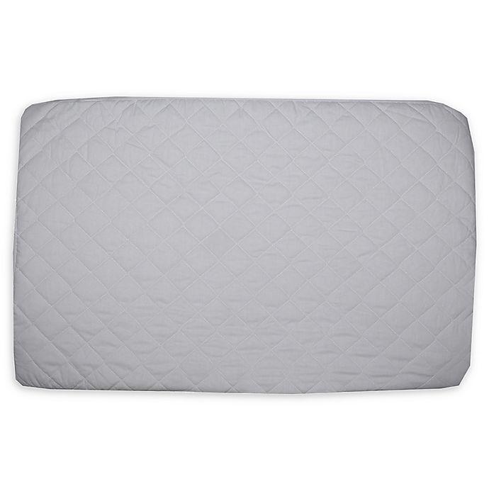 Alternate image 1 for BE Basic™ Bambino Basics Cotton Porta Crib Pad in White